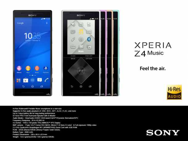 Music Xperia Z4 poster