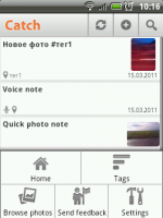 Catch Notes - заметки с медиа для android